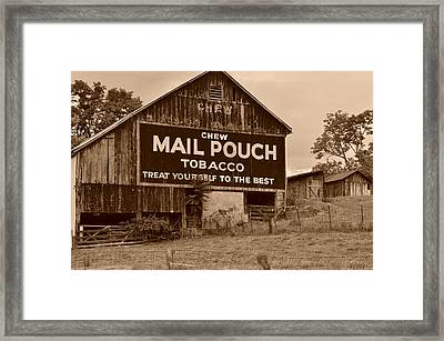 Mail Pouch Framed Print