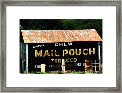 Mail Pouch Framed Print by Michael L Kimble