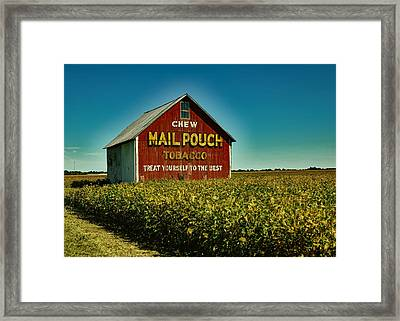 Mail Pouch Tobacco Barn Framed Print by Mountain Dreams