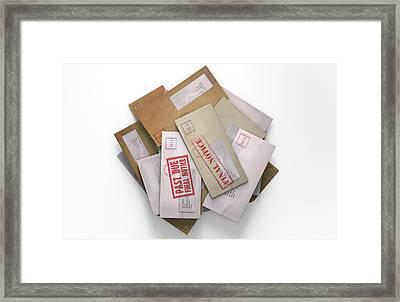 Mail Stack Framed Print