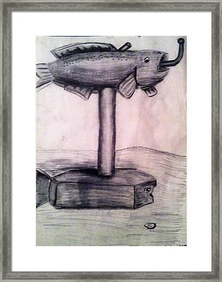 Mailbox Fish Framed Print by Andrew Blitman