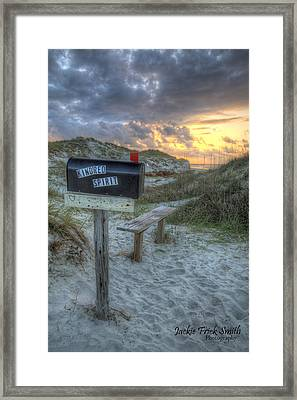 Mailbox Sunrise Framed Print by Jackie Frick Smith