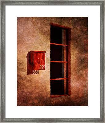 Mailbox - Window - 555 Framed Print by Nikolyn McDonald