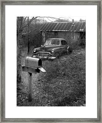 Mailboxcar Framed Print by Curtis J Neeley Jr