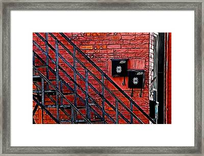 Mailboxes Framed Print