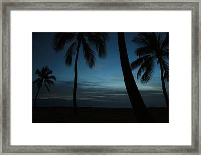Ma'ili Beach After Sunset Framed Print