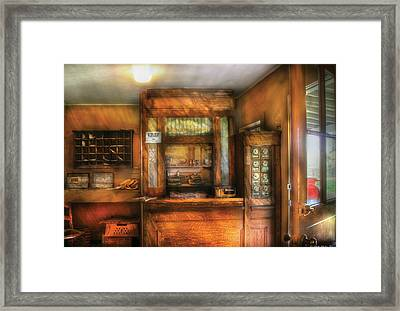 Mailman - The Post Office Framed Print by Mike Savad