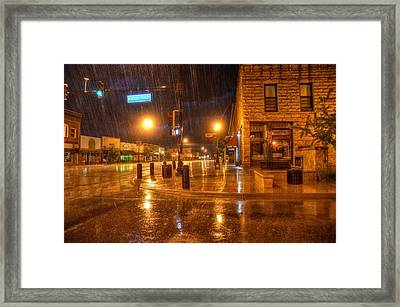 Main And Hudson Framed Print
