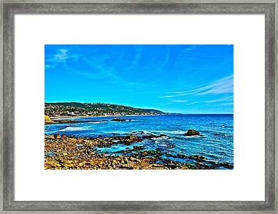 Main Beach Laguna Framed Print by Jeremy Stewart