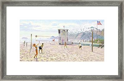Main Beach Volleyball Framed Print