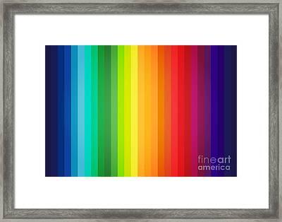 Main Colors Palette Spectrum Framed Print