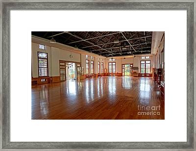 Main Room Of The Wu De Martial Arts Hall Framed Print by Yali Shi