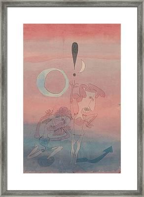 Main Scene From The Ballet The False Oath Framed Print by Paul Klee