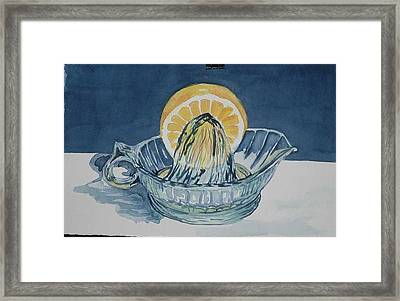 Main Squeeze Framed Print