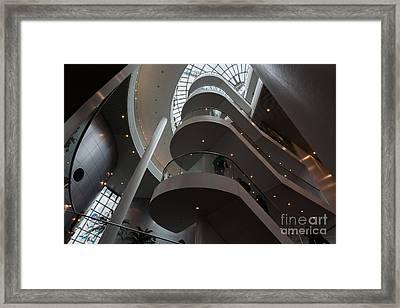 Main Stairway Going Up The Perlan Framed Print by Dan Hartford