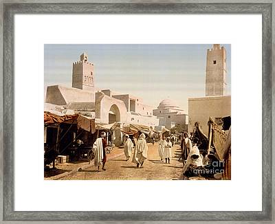 Main Street And Mosque Framed Print by Celestial Images