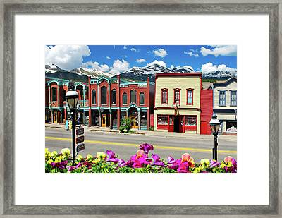 Main Street - Breckenridge Colorado Framed Print by Gregory Ballos