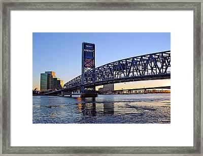 Main Street Bridge At Sunset Framed Print by Rick Wilkerson