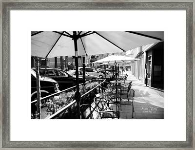 Main Street Greenville - Bw Framed Print