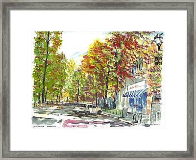 Main Street Greenville Fall Framed Print