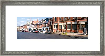 Main Street In Belfast, Maine Framed Print by Panoramic Images