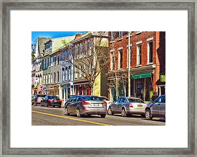 Main Street In Catskill Ny Framed Print by Nancy De Flon