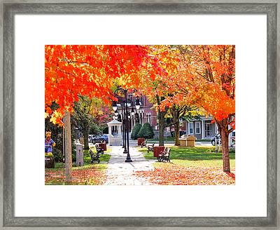 Main Street In The Fall Framed Print