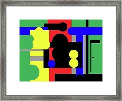 Main Street Framed Print by International Artist Brent Litsey