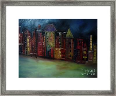 Main Street Framed Print by Maria Curcic