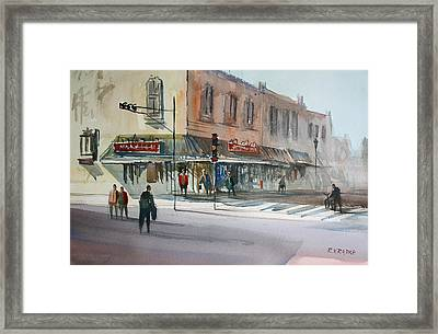 Main Street Marketplace - Waupaca Framed Print by Ryan Radke