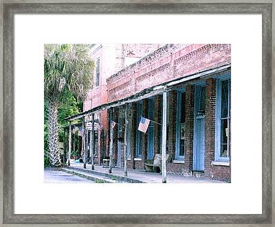 Main Street Micanopy Florida Framed Print