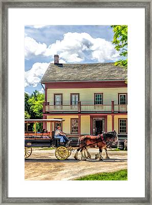 Main Street Of A Bygone Era At Old World Wisconsin Framed Print by Christopher Arndt