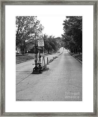 Main Street Oil Well Framed Print