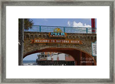 Main Street Pier And Boardwalk Framed Print