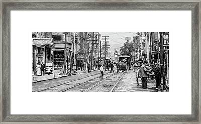 Main Street, Poughkeepsie, 1906 Framed Print by The Hudson Valley