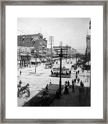 Main Street, Salt Lake City, Utah C Framed Print by Everett