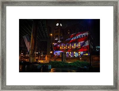 Main Street Station At Night Framed Print