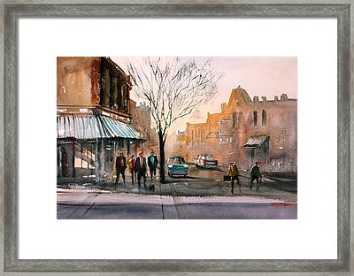 Main Street - Steven's Point Framed Print by Ryan Radke