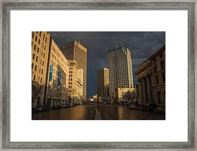 Main Street Sunset Framed Print by Bryan Scott