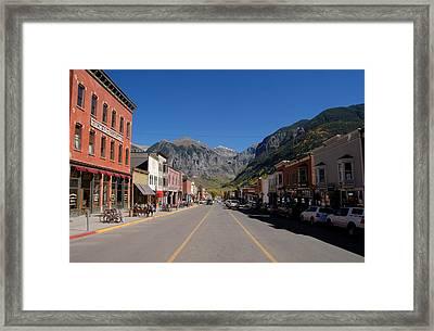 Main Street Telluride Framed Print by David Lee Thompson