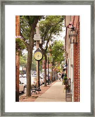 Main Street Usa Framed Print