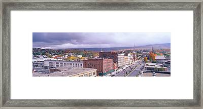 Main Street Usa, North Adams Framed Print by Panoramic Images