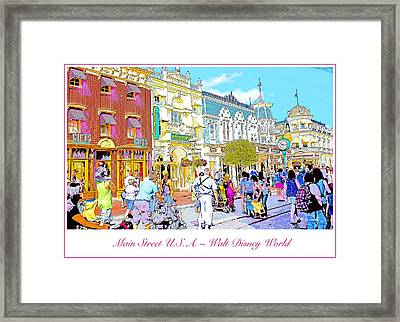 Main Street Usa Walt Disney World Poster Print Framed Print