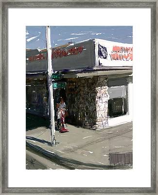 Main Street Vacuum Framed Print