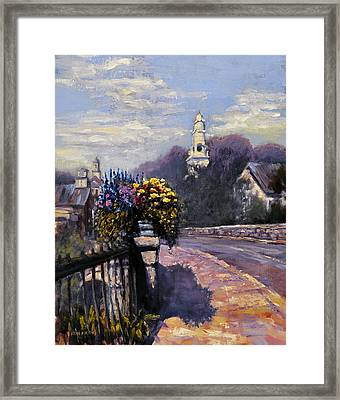 Main Streets Welcome Framed Print