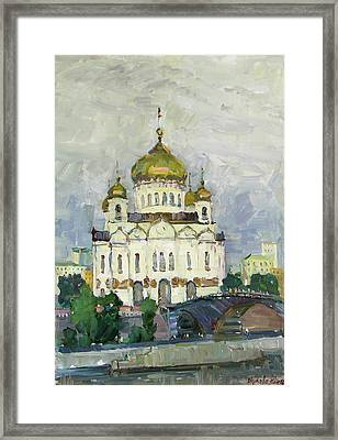 Main Temple Of Russia Framed Print by Juliya Zhukova