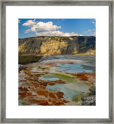 Framed Print featuring the photograph Main Terrace Pastels by Charles Kozierok