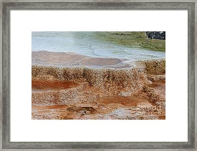 Framed Print featuring the photograph Main Terrace Textures by Charles Kozierok