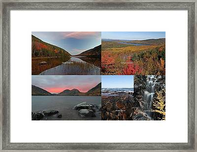Maine Acadia National Park Landscape Photography Framed Print by Juergen Roth