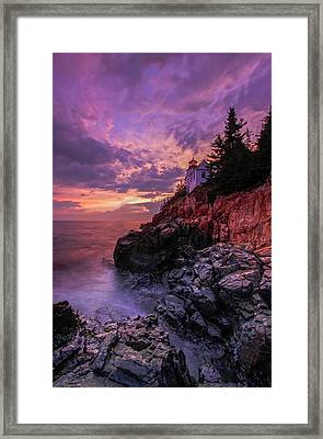 Framed Print featuring the photograph Maine Bass Harbor Lighthouse by Juergen Roth